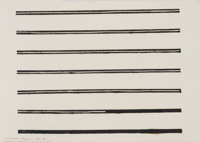 Kishio Suga, 'Untitled', 1980, Print, Woodcut on paper, Aki Gallery