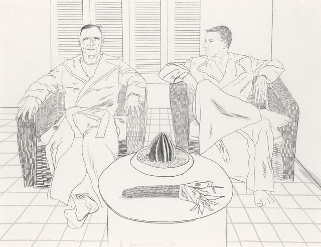 David Hockney, 'Don Bachardy and Christopher Isherwood', 1976, Attika Fine Arts