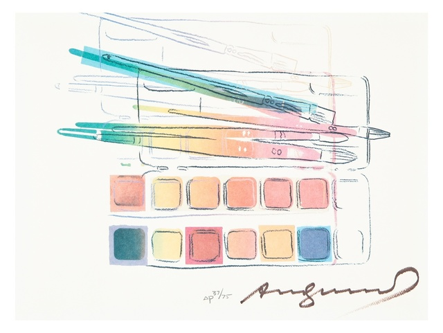 Andy Warhol, 'Watercolor paint kit with brushes (Feldman & Schellmann II.288)', 1984, Forum Auctions