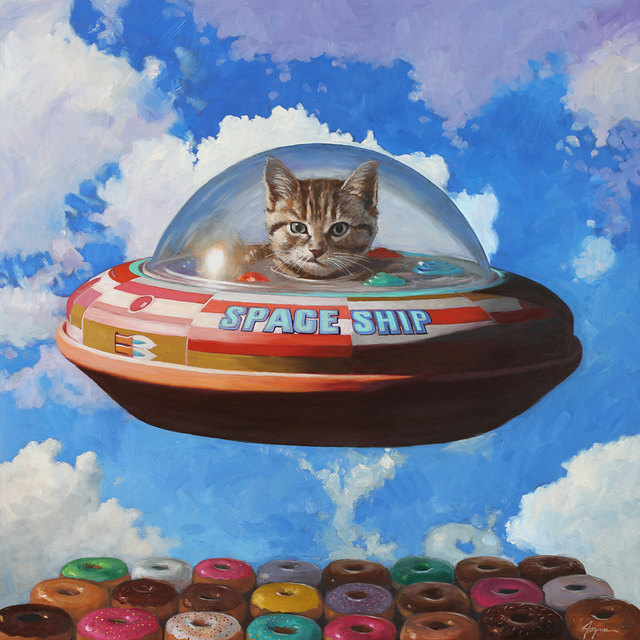, 'This Is Not a Cat in a Spaceship,' 2019, Corey Helford Gallery