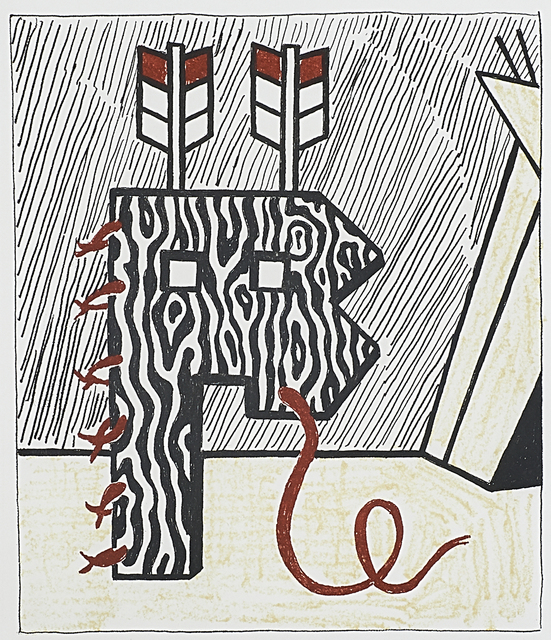 Roy Lichtenstein, 'Figure with Teepee', 1980, Rago