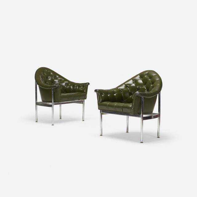 Milo Baughman, 'Lounge chairs, pair', c. 1975, Wright