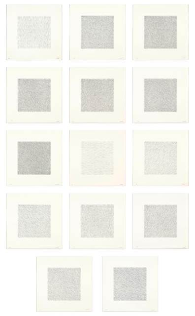 Sol LeWitt, 'Lines of One Inch in Four Directions and All Combinations', 1971, Koller Auctions