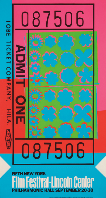 Andy Warhol, 'Lincoln Center Ticket', 1967, Print, Offset lithograph in colors, on light-weight wove paper, the full sheet, Phillips