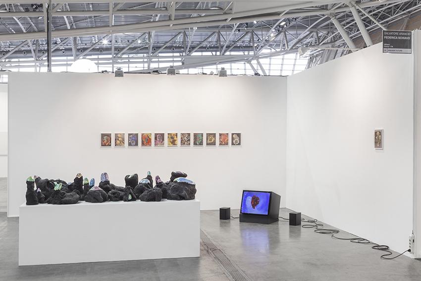 Salvatore Arancio solo show at Federica Schiavo Gallery booth, Artissima, Turin