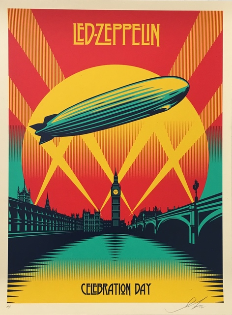 Shepard Fairey (OBEY), 'Led Zeppelin ', 2012, Lot 180