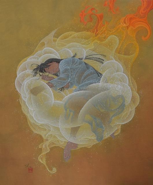 Yoji Kumagai, 'Shine on many places', 2017, Painting, Japanese pigments on paper, SEIZAN Gallery