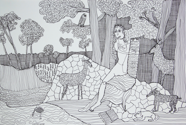 , 'Goddess and Her Lovers ,' 2016, David Lusk Gallery