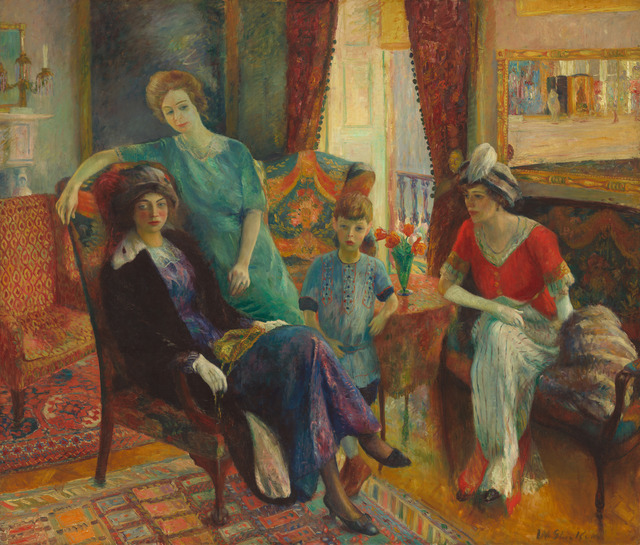 William James Glackens, 'Family Group', 1910/1911, National Gallery of Art, Washington, D.C.