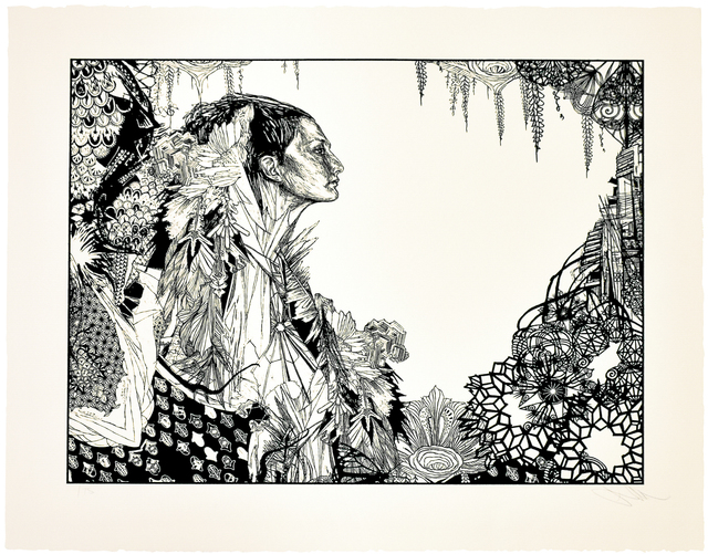 Swoon, 'ICE QUEEN', 2017, Print, Silkscreen on heavyweight Cream Rag Paper with deckled edges., Silverback Gallery