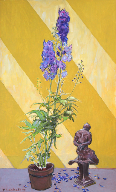 , 'Delphinium and Sculpture 1,' 2005, Winchester Galleries