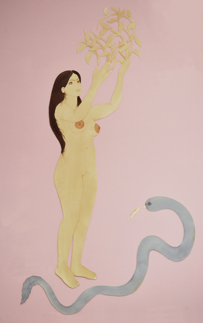 , 'Self Portrait with Snake after Bernini,' 2018, Field Projects