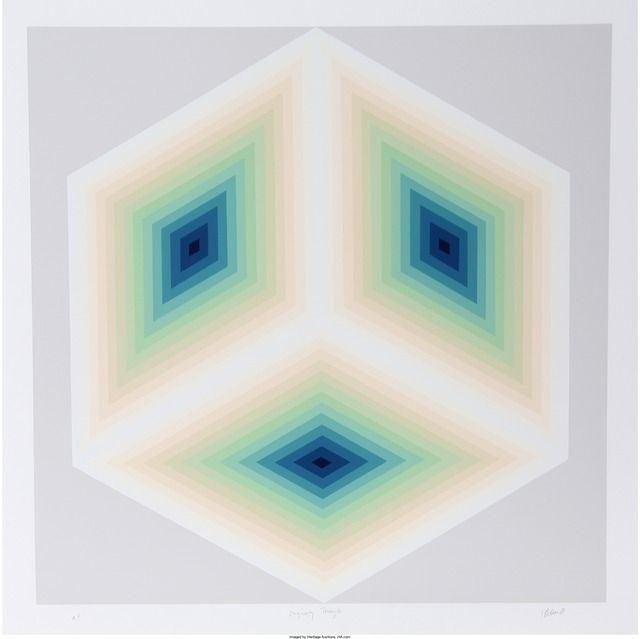 Jurgen Peters-Illumination-1980 Serigraph