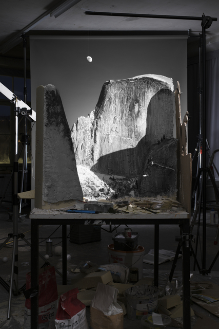 """, '26.Making of """"Moon and Half Dome"""" (by Ansel Adams, 1960),' 2016, East Wing"""