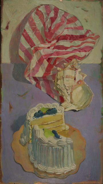 , 'Round Cake with Striped Paper,' 2016, LeMieux Galleries