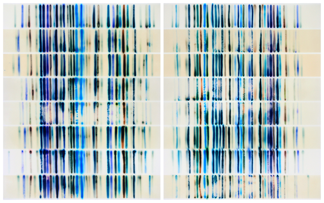 , 'Blues Chart w/ 8 Whites,' 2018, Dolby Chadwick Gallery