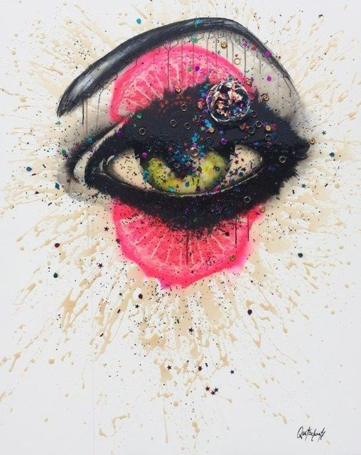 Quetzalcoatl, 'Ojo por ojo', 2016, Painting, Acrylic + industrial varnish on canvas, Biaggi & Faure Fine Art