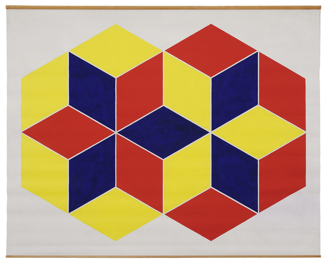 , 'Yellow Hexagon & Red Hexagon,' 1970-1971, Charles Nodrum Gallery