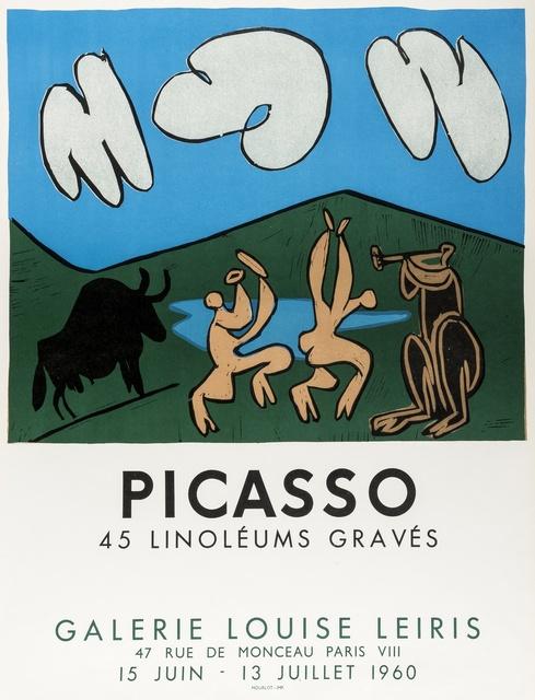 Pablo Picasso, '45 Linoléums Gravés (Czwiklitzer 181)', 1960, Print, Offset lithographic poster printed in colours, Forum Auctions
