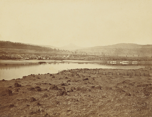 Carleton E. Watkins, 'The Dalles, Oregon, from Rockland, Washington Territory', 1867, Swann Auction Galleries