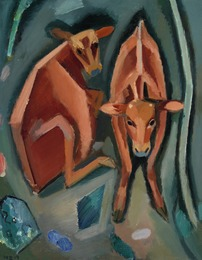 Composition with two calves