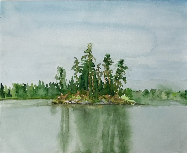, 'Small Island ,' 2018, William Baczek Fine Arts