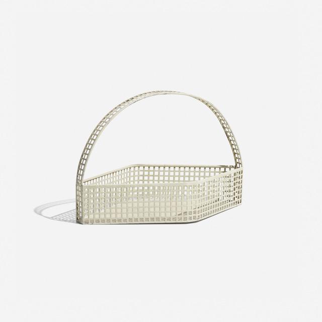 Josef Hoffmann, 'Basket', 1905, Design/Decorative Art, Enameled and perforated steel, Rago/Wright