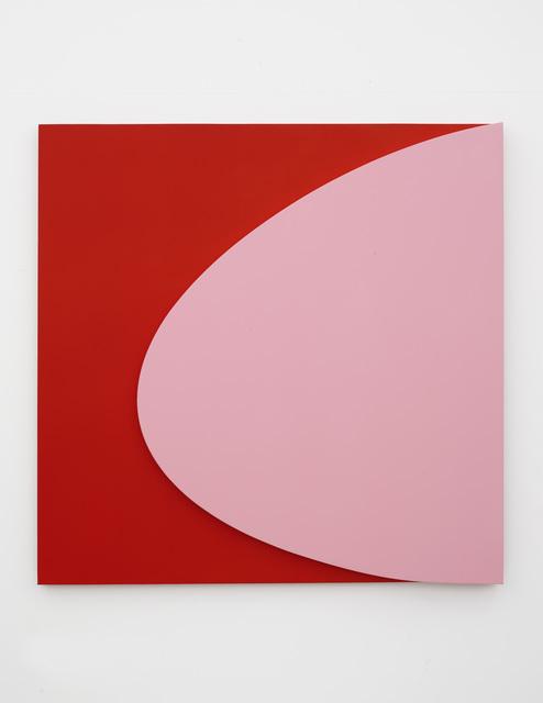 , 'Pink on Red,' 2018, MARUANI MERCIER GALLERY