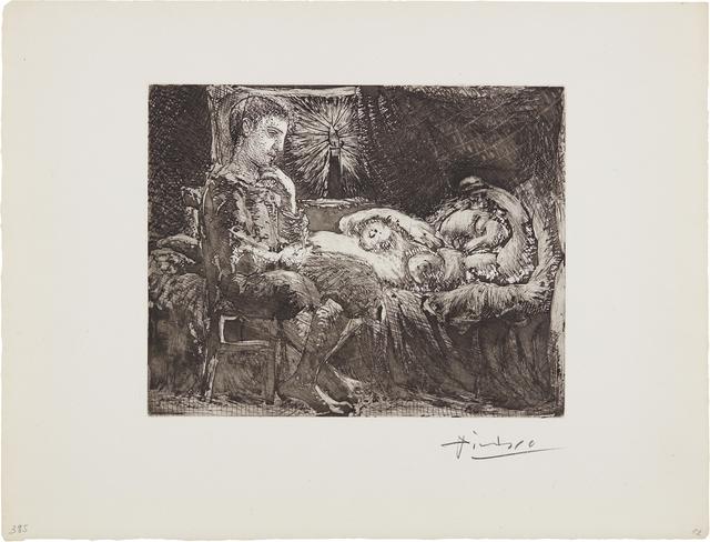 Pablo Picasso, 'Garçon et dormeuse à la chandelle (Boy and Sleeping Woman by Candlelight), plate 26 from La Suite Vollard', 1934, Phillips