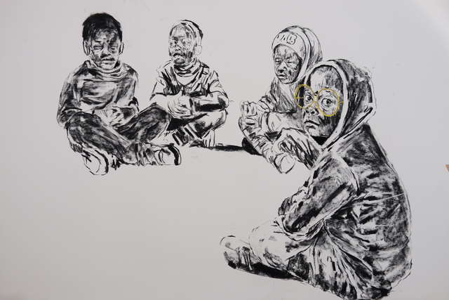 , 'Koro (Council Sitting) ,' 2017, Gallery of African Art (GAFRA)