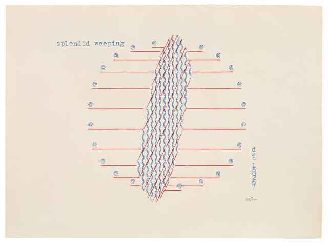 , 'splendid weeping,' 1970, Richard Saltoun