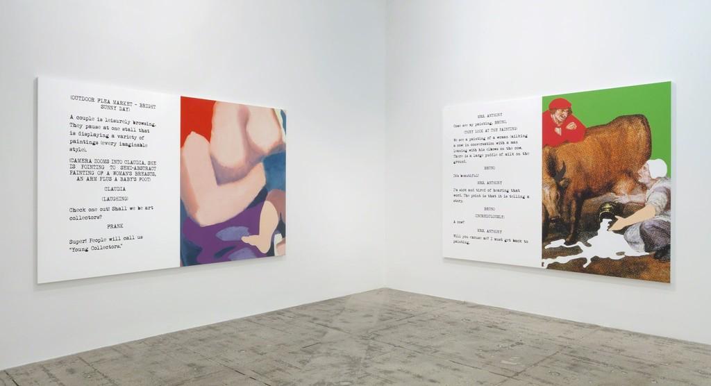 John Baldessari: Movie Scripts/Art, Installation View, Marian Goodman Gallery, New York, October 22 - November 22, 2014