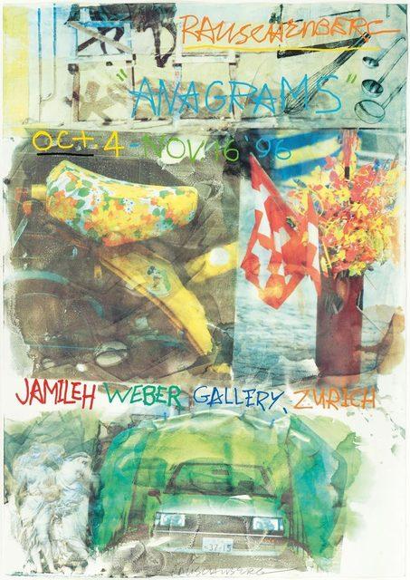 Robert Rauschenberg, 'Anagrams', 1996, Print, Colour offset, Koller Auctions