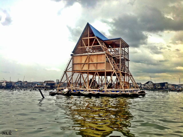 , 'Makoko Floating School,' 2015, Chicago Architecture Biennial