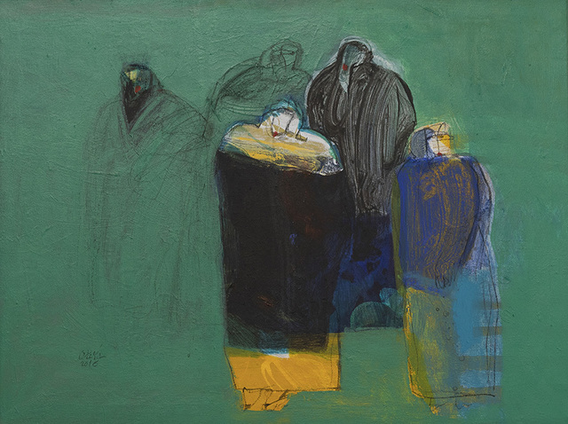 Salman Al Malik, 'Ladies in the garden / نساء في الحديقة', 2016, al markhiya gallery