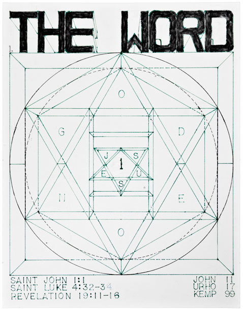 , 'untitled (The Word),' 1999, christian berst art brut