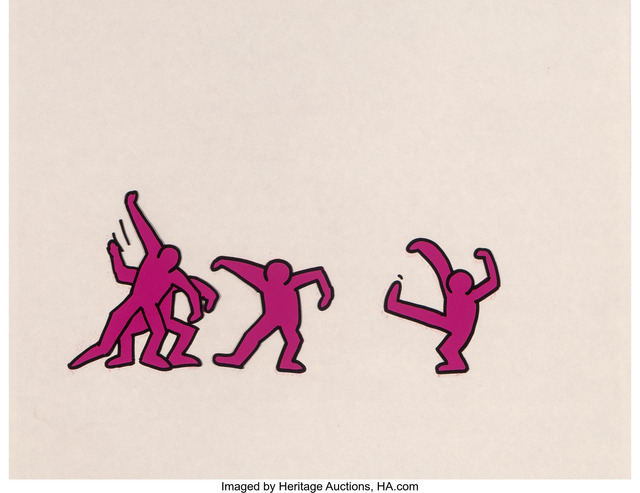 Keith Haring, 'Sesame Street Break-Dancers, three works', Mixed Media, Marker on overhead sheet, Heritage Auctions