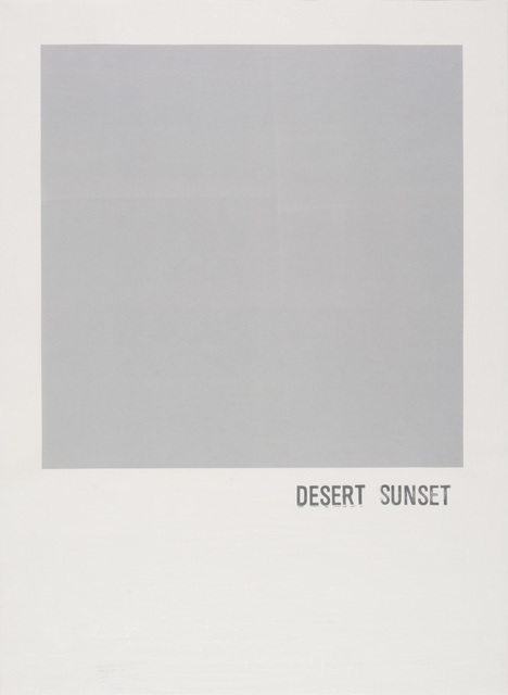 , 'Desert Sunset,' 2016, Highpoint Editions
