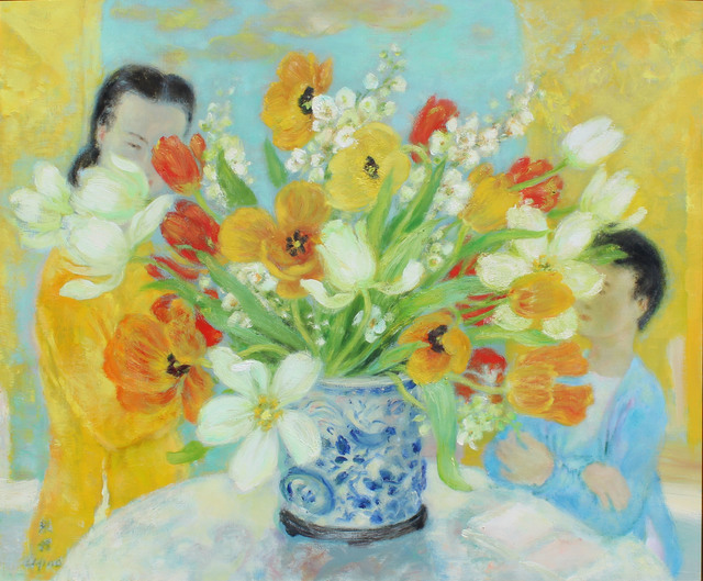 Le Pho, 'Les tulipes jaunes', 1983, Findlay Galleries