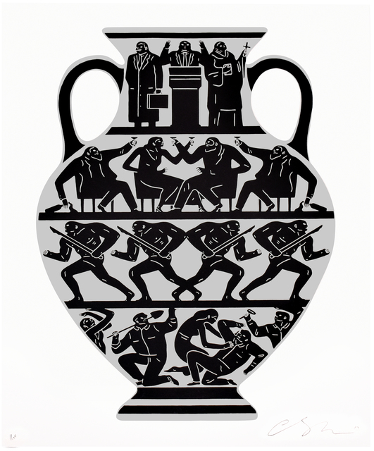 Cleon Peterson, 'TRUMP 2017 (White & Platinum)', 2017, Silverback Gallery