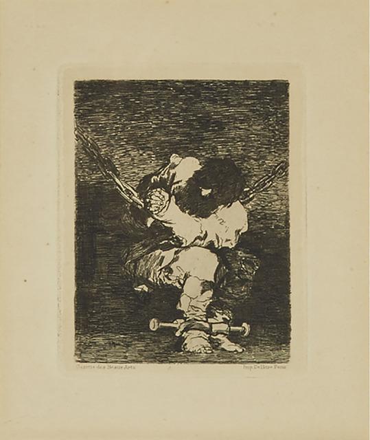 Francisco de Goya, 'Tan Bárbara La Seguridad Como El Delito (The Little Prisoner)', 1867, Waddington's