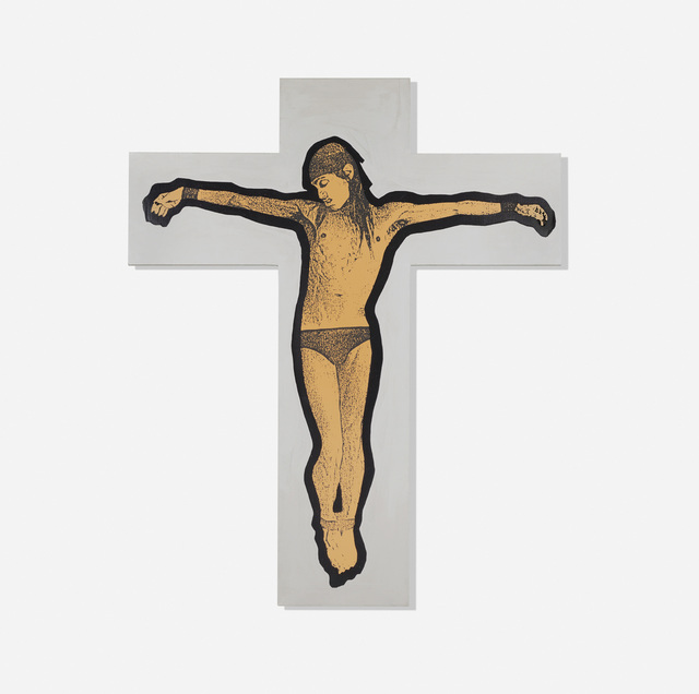 Stephen Sprouse, 'Iggy on the Cross', 1987, Wright