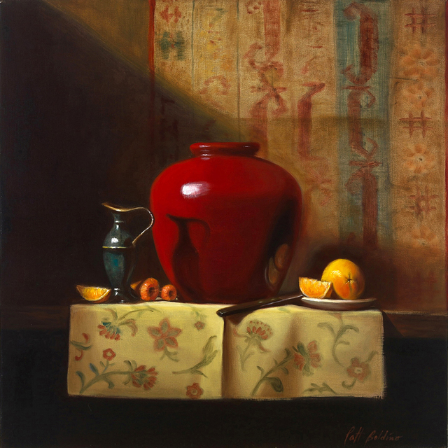 , 'Red Vase,' 2019, The Galleries at Salmagundi