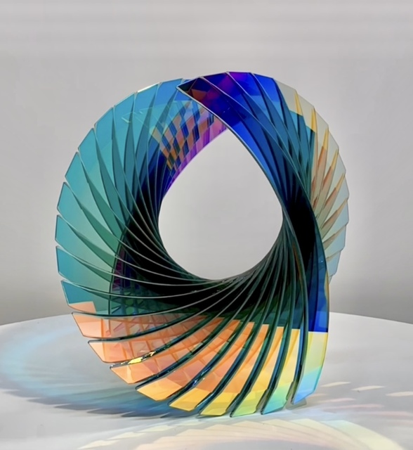 Tom Marosz, 'Baby Tear (Evergreen Dichroic)', 2010-2021, Sculpture, Float glass, cut, grounded, sandblasted, air brushed and laminated, Avran Fine Art