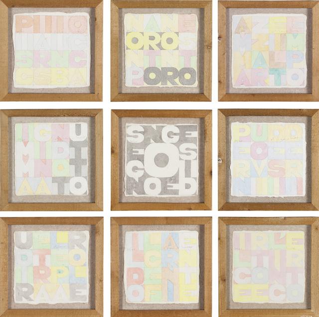 , 'Nove quadrati,' 1979, Repetto Gallery