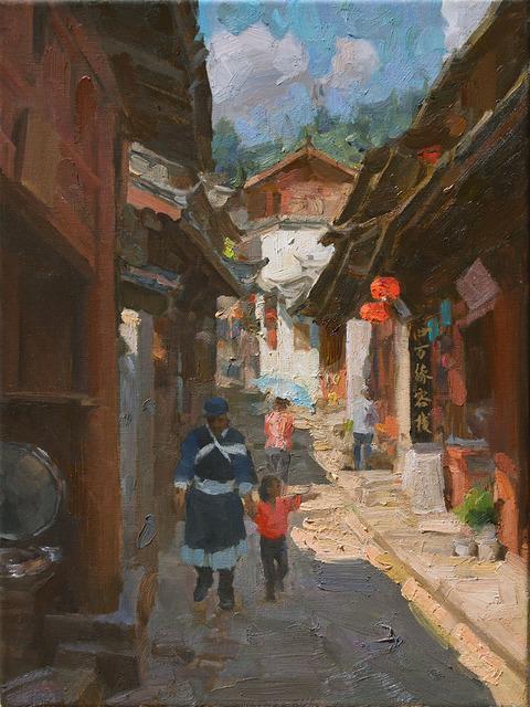 , 'A Street in Lijiang,' 2016, Trailside Galleries