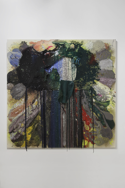 John M. Armleder, 'Fishes weep', 2014, Galerie Mehdi Chouakri