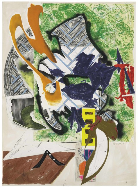 Frank Stella, 'Ahab's Leg (The Waves from The Moby Dick Prints 1989-93 series)', 1989, Print, Silkscreen, lithography, and linoleum block with hand-coloring, marbling, and collage on T.H. Saunders and Somerset papers, Denis Bloch Fine Art