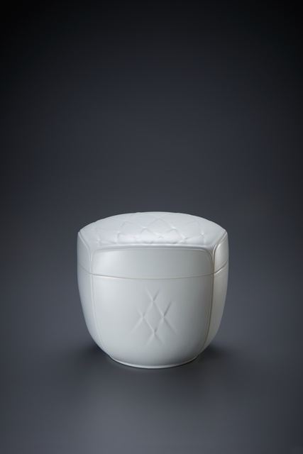 , 'Sculpted White Porcelain Lidded Box with Expanding Hishi Pattern,' 2017, Onishi Gallery