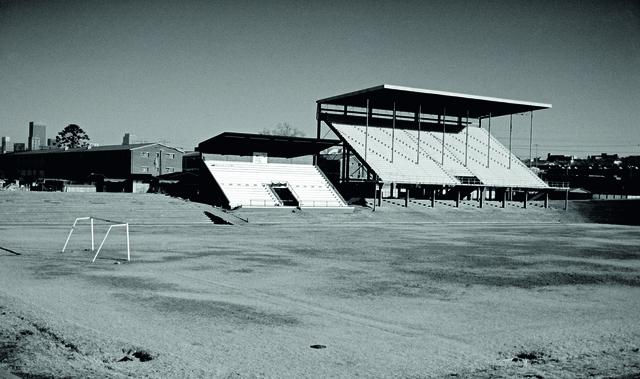 , 'Goerge Goch Stadium,' 2008, blank projects